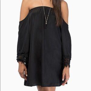 NWT Tobi Ophelia Black Off The Shoulder Dress Top
